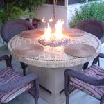 Custom outdoor fire table.