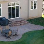 Paver Patio with Paver Veneers on Steps Located in Rosemount MN