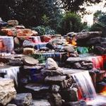 Multiple Cascading Waterfalls with Fiber Optic Lighting Located in Minnetonka MN