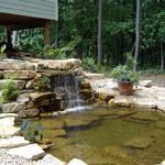 Stunning Limestone Waterfall with Limestone Retaing Walls Located in Somerset WI